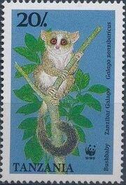 Tanzania 1989 WWF Zanzibar Galago c