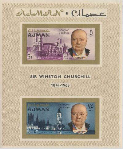 Ajman 1966 Winston Churchill SSb