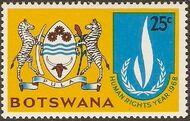 Botswana 1968 International Human Rights Year c