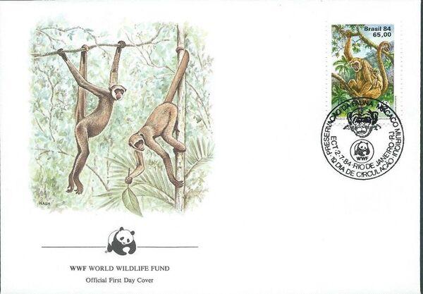 Brazil 1984 WWF - Southern Muriqui FDCa