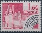 France 1980 Historic Monuments - Pre-cancelled (2nd Issue) d