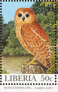Liberia 1997 Native Owls d