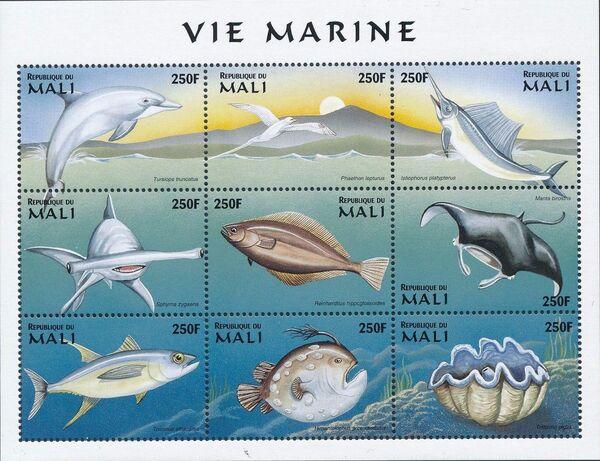 Mali 1997 Marine Life zq