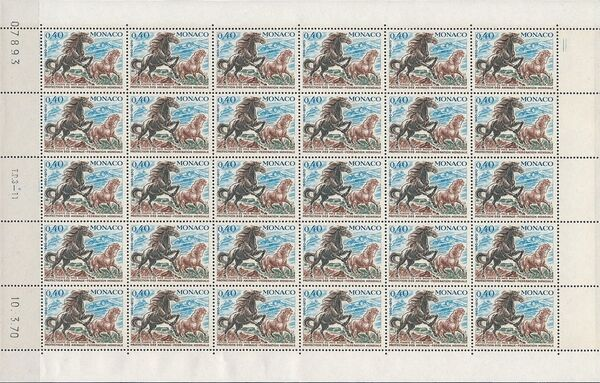 Monaco 1970 20th Anniversary of World Federation for Protection of Animals Sb