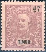 Timor 1903 D. Carlos I - New Values and Colors k