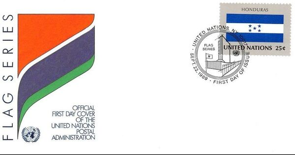 United Nations-New York 1989 Flag Series FDCi