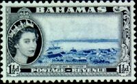 Bahamas 1954 Queen Elisabeth II and Landscapes Issue c