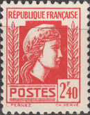 France 1944 Series d'Algiers (Cock of Alger and Marianne of Fernez) o
