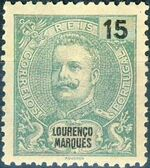 Lourenço Marques 1903 D. Carlos I New Values and Colors a