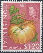 Montserrat 1965 Fruit & Vegetables and Portrait of Queen Elizabeth II o