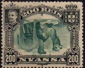 Nyassa Company 1901 D. Carlos I (Giraffe and Camels) y