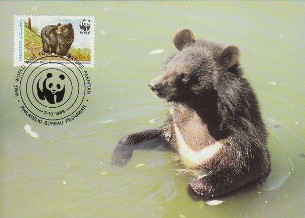 Pakistan 1989 WWF Asiatic Black Bear MCa