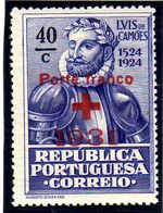 Portugal 1931 Red Cross - 400th Birth Anniversary of Camões c