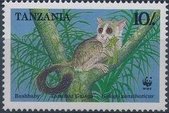 Tanzania 1989 WWF Zanzibar Galago b