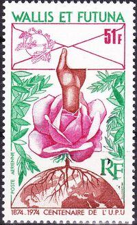 Wallis and Futuna 1974 Centenary of Universal Postal Union a