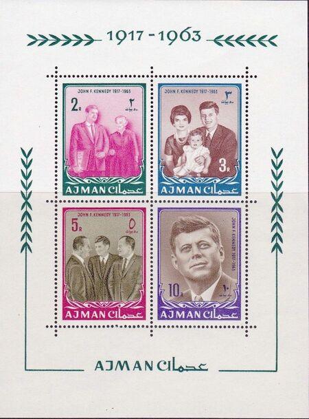 Ajman 1964 President Kennedy SSb