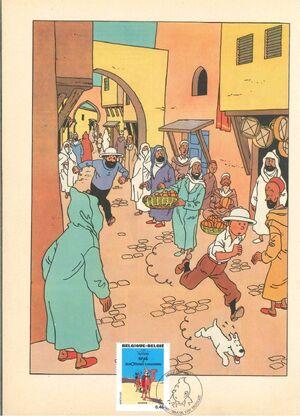 Belgium 2007 Tintin book covers translated zae