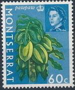 Montserrat 1965 Fruit & Vegetables and Portrait of Queen Elizabeth II n