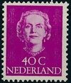 Netherlands 1949 Queen Juliana - En Face (1st Group) j