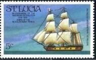 St Lucia 1976 200th Anniversary of American Revolution - Revolutionary Era Ships d