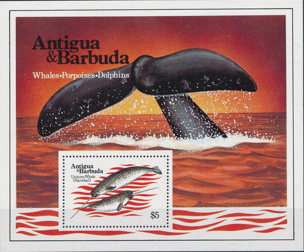 Antigua and Barbuda 1983 Whales Porpoises and Dolphins e