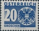 Austria 1935 Coat of Arms and Digit h