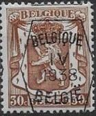 Belgium 1938 Coat of Arms - Precancel (4th Group) d