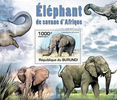 Burundi 2011 Elephants of the African Savanna SSb