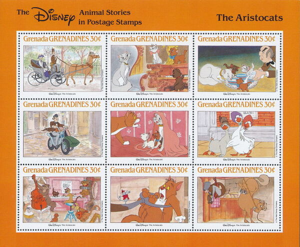 Grenada Grenadines 1988 The Disney Animal Stories in Postage Stamps SSf