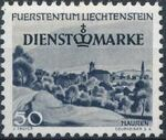 Liechtenstein 1947 Stamps of 1944-1945 overprinted - Official Stamps e