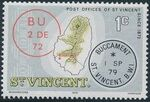 St Vincent 1979 Cancellations and Location of Village a