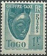 Togo 1941 Postage Due h