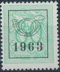 Belgium 1963 Heraldic Lion with Precancellations i
