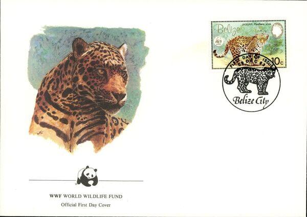 Belize 1983 WWF - Jaguar FDCb