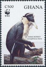 Ghana 1994 WWF - Diana Monkeys c