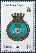 Gibraltar 1983 Royal Navy Crests 2nd Group c