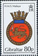 Gibraltar 1985 Royal Navy Crests 4th Group d