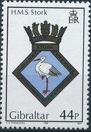 Gibraltar 1989 Royal Navy Crests 8th Group d