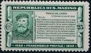 San Marino 1932 50th Anniversary of Giuseppe Garibaldi Death c