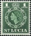 St Lucia 1953 Queen Elizabeth II and Arms of St Lucia a.jpg