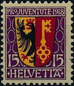 Switzerland 1918 PRO JUVENTUTE - Coat of Arms b