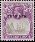 Ascension 1924 Seal of the Colony u