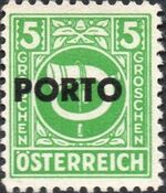 Austria 1946 Occupation Stamps of the Allied Military Government Overprinted in Black b