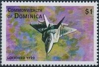 Dominica 1998 Modern Aircrafts t