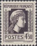 France 1944 Series d'Algiers (Cock of Alger and Marianne of Fernez) r