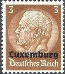 German Occupation-Luxembourg 1940 Stamps of Germany (1933-1936) Overprinted in Black a