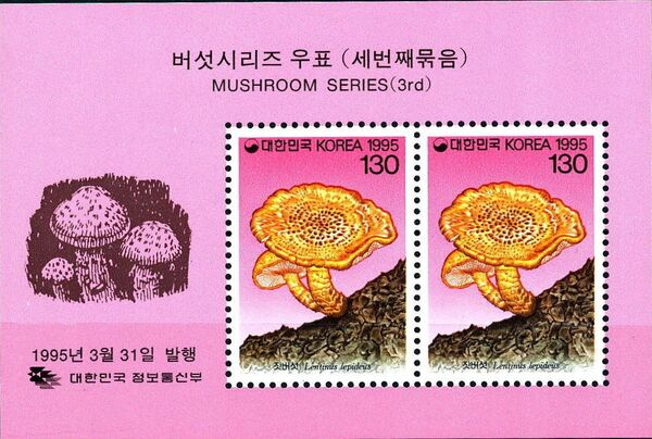 Korea (South) 1995 Mushrooms (3rd Issue) h