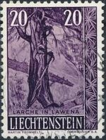 Liechtenstein 1959 Native Trees and Shrubs (3rd Group) a