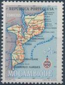 Mozambique 1954 Map of Mozambique b