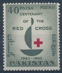 Pakistan 1963 Centenary of Red Cross a